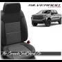 2019 - 2021 Silverado Katzkin Black and Graphite Leather Seats