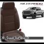 2019 - 2021 Silverado Katzkin Black and Coffee Leather Seats