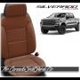 2019 - 2021 Silverado Katzkin Black and Cognac Leather Seats