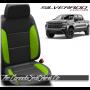 2019 - 2021 Silverado Custom Lime Green Leather Seat Design