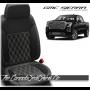 2019 - 2020 GMC Sierra Black Carbon Double Diamond Stitched Leather Seats