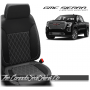 2019 - 2021 GMC Sierra Black Carbon SingleDiamond Stitched Leather Seats