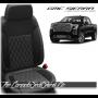 2019 - 2020 GMC Sierra Black Carbon SingleDiamond Stitched Leather Seats
