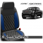 2019 - 2020 GMC Sierra Cobalt Double Diamond Stitched Leather Seats
