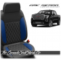 2019 - 2020 GMC Sierra Cobalt Single Diamond Stitched Leather Seats