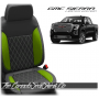 2019 - 2020 GMC Sierra Lime Green Double Diamond Stitched Leather Seats