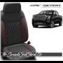 2019 - 2020 GMC Sierra Medium Red Single Diamond Stitched Leather Seats