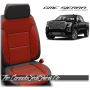 2019 - 2021 GMC Sierra Red Body Diamond Stitched Leather Seats