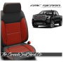 2019 - 2021 GMC Sierra Red Insert Diamond Stitched Leather Seats