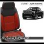 2019 - 2020 GMC Sierra Red Insert Diamond Stitched Leather Seats