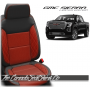 2019 - 2021 GMC Sierra Red Combo Diamond Stitched Leather Seats