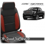 2019 - 2021 GMC Sierra Red Diamond Stitched Wing Leather Seats
