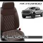 2019 - 2020 Chevrolet Silverado Katzkin Coffee Double Diamond Stitched Leather Seats