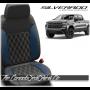 2019 - 2020 Chevrolet Silverado Katzkin Pacific Double Diamond Stitched Leather Seats
