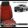 2019 - 2020 Chevrolet Silverado Katzkin Tekstitch Red Body Leather Seats
