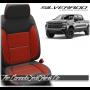 2019 - 2020 Chevrolet Silverado Katzkin Tekstitch Red Insert Leather Seats