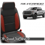 2019 - 2021 Chevrolet Silverado Katzkin Red Single Diamond Stitched Leather Seats