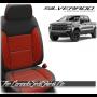 2019 - 2020 Chevrolet Silverado Katzkin Tekstitch Red Combo Leather Seats