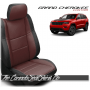 2011 - 2020 Jeep Grand Cherokee Custom Medium Red Carbon Leather Seats