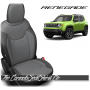 Jeep Renegade Black and Light Grey Custom Leather Seats