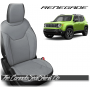 Jeep Renegade Black and Cement Custom Leather Seats