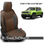 Jeep Renegade Black and Coffee Custom Leather Seats