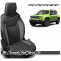 Jeep Renegade Black and Ash Grey Custom Leather Seats