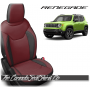 Jeep Renegade Black and Medium Red Custom Leather Seats