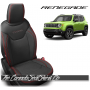 Jeep Renegade Black and Red Custom Leather Seats