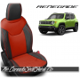 Jeep Renegade Black and Salsa Red Body Custom Leather Seats