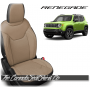 Jeep Renegade Black and Bisque Custom Leather Seats