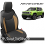 Jeep Renegade Black and Tan Wings Custom Leather Seats