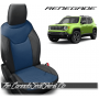 Jeep Renegade Black and Pacific Blue Custom Leather Seats