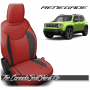 Jeep Renegade Salsa Red with Black Custom Leather Seats