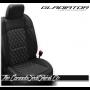 Jeep Gladiator Black Custom Diamond Stitched Leather Seats