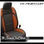 Jeep Gladiator Custom Tangerine Diamond Stitched Leather Seats