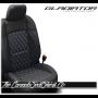 Jeep Gladiator Cobalt Custom Diamond Stitched Leather Seats