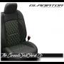 Jeep Gladiator Lime Custom Diamond Stitched Leather Seats