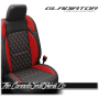 Jeep Gladiator Custom Red Diamond Stitched Leather Seats