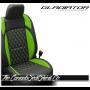 Jeep Gladiator Custom Green Diamond Stitched Leather Seats