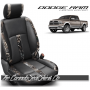2013 - 2018 Dodge Ram Katzkin Black and Wetlands Leather Seats