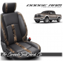 2013 - 2018 Dodge Ram Katzkin Black and Woodlands Leather Seats