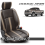 2013 - 2018 Dodge Ram Katzkin Coffee and Bisque Leather Seats
