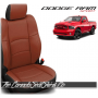 2009 - 2013 Dodge Ram Sport Black and Cognac Custom Leather Seats