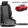 2009 - 2013 Dodge Ram Sport Black and Charcoal Custom Leather Seats