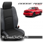 2009 - 2013 Dodge Ram Sport Black and Lapis Wing Custom Leather Seats