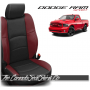 2009 - 2013 Dodge Ram Sport Black and Medium Red Custom Leather Seats