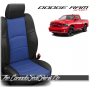 2009 - 2013 Dodge Ram Sport Black and Pacific Blue Custom Leather Seats
