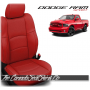 2009 - 2013 Dodge Ram Sport Salsa Red Custom Leather Seats