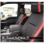 2015 - 2020 Ford F150 Crew Cab Tekstitch Leather Interior Front Seat Red